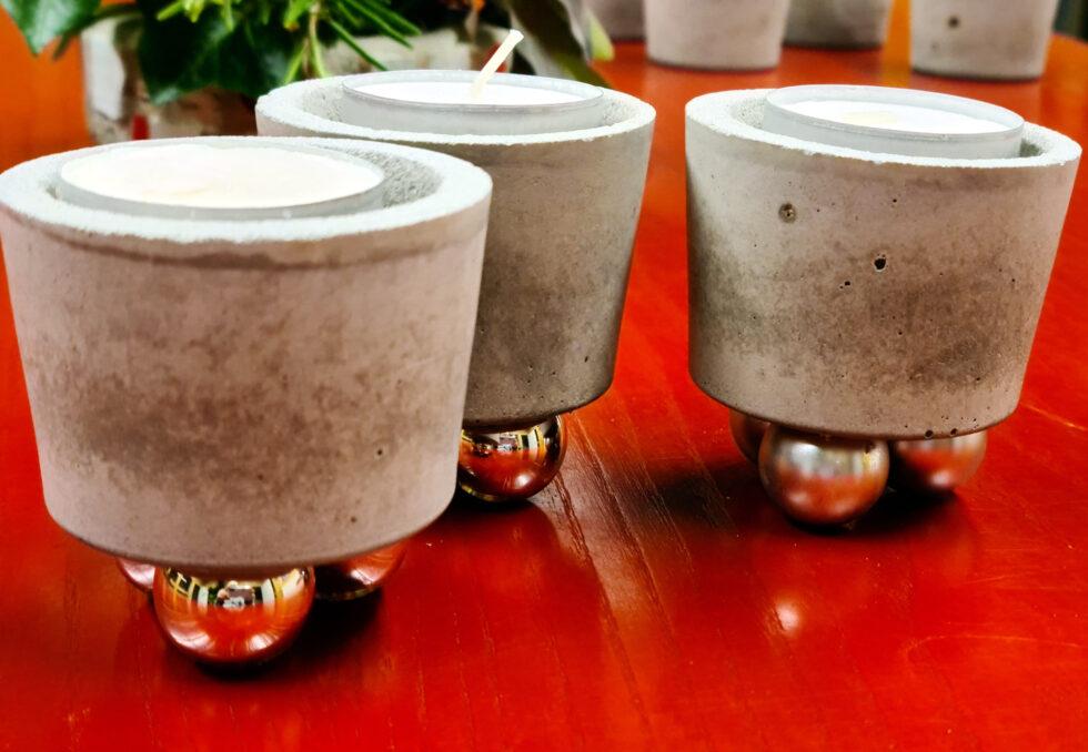 Beton Dekoratives Heike Leitner Teelichthalter